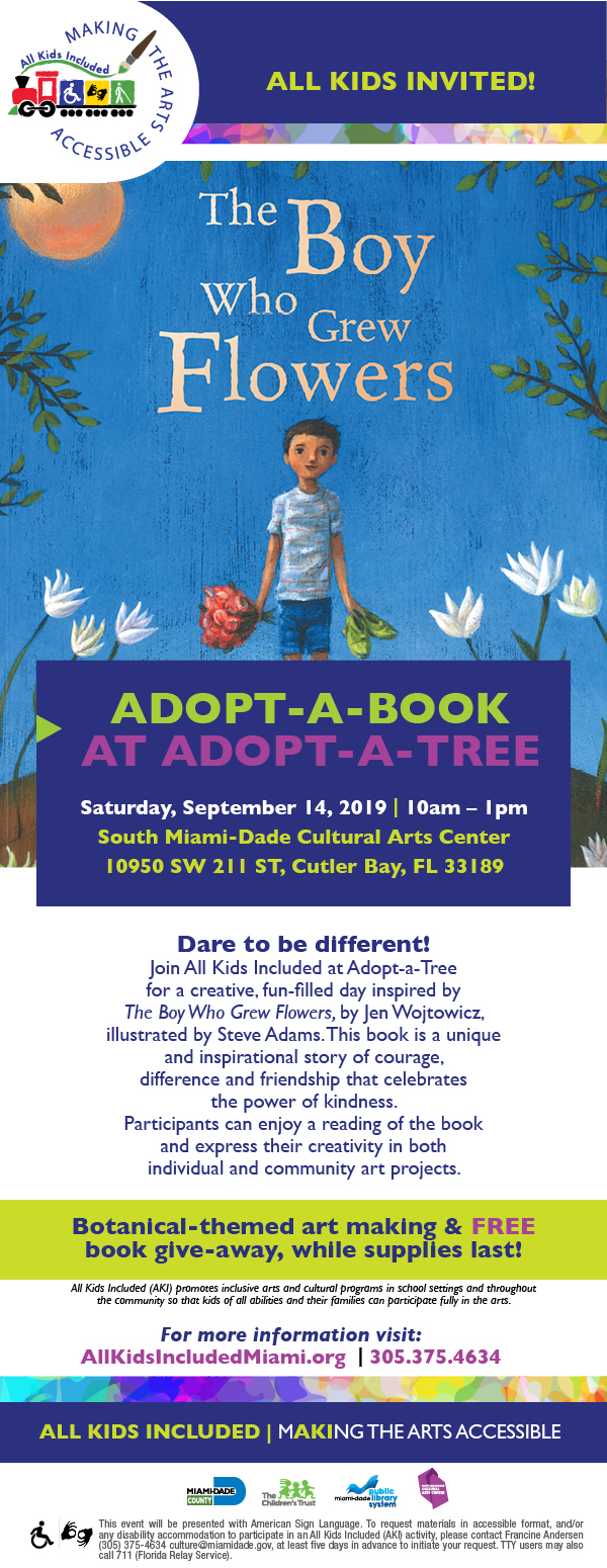 Adopt-a-Book at SMDCAC on 9/14/19 from 9am-noon