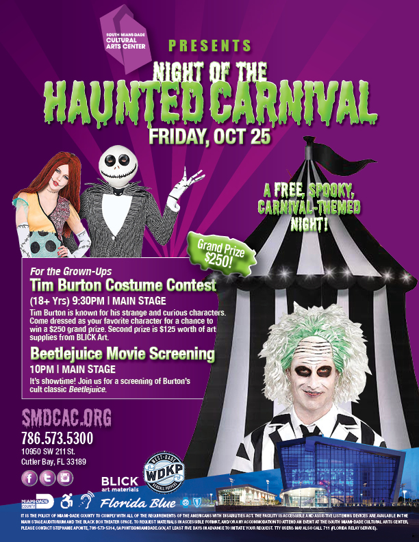 Tim Burton Costume Contest + Beetlejuice Movie Screening