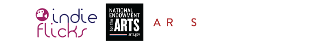 Logos for Indie Flicks, National Endowment for the Arts, South Arts, and Southern Circuit