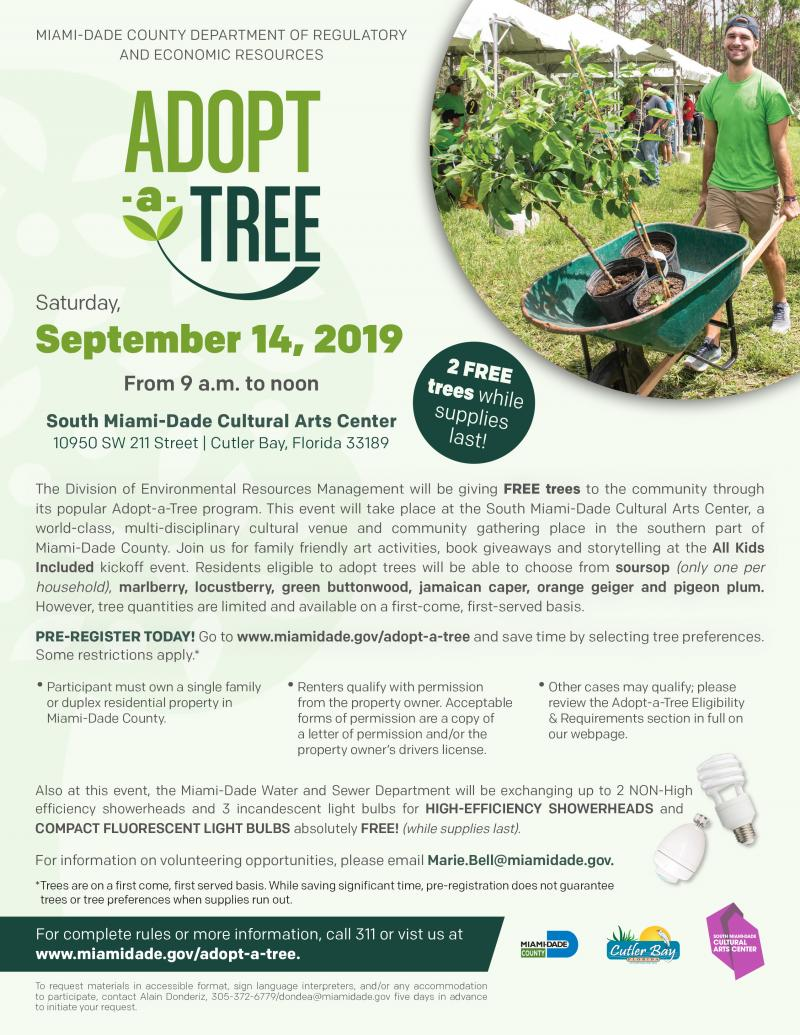 Adopt-a-Tree at SMDCAC on 9/14/19 from 9am-noon