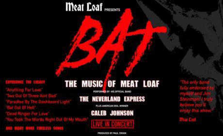 Meatloaf: Bat Logo along with show description