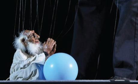 Wise Man Marionette with Balloon
