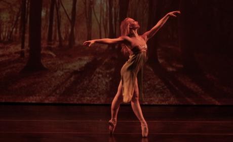 Dancer onstage