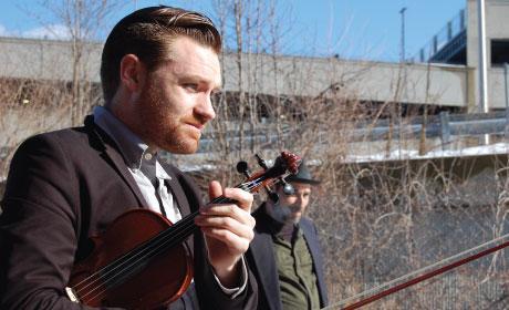 Eli Bishop (violin) by Occidental Gypsy