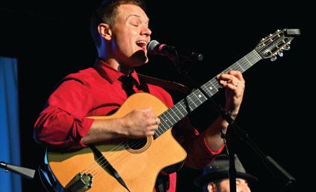Jeremy Frantz (red shirt/guitar) by Carl Deutsch