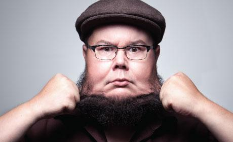 Artist Shane Koyczan close-up