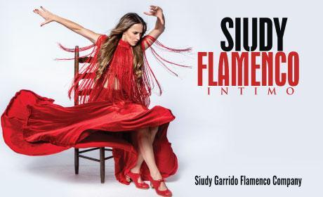 Siudy Flamenco dancer sitting in red dress