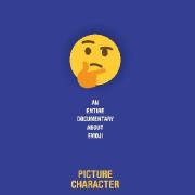 Thinking Emoji on Blue Background