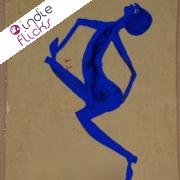 Painted Blue Man Dancing