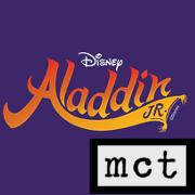 Image of Aladdin Junior headline with Miami Children's Theatre logo in the bottom right corner